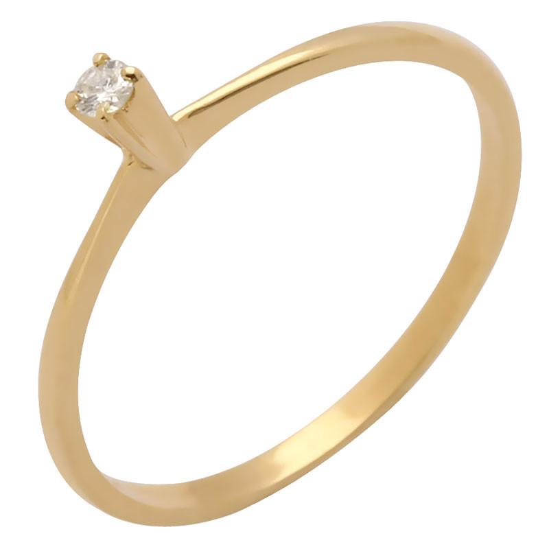 9871363693732 Anel de Ouro 18k Solitário com 1 Diamante